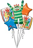 Anagram International Yo Gabba Gabba Bouquet, Multicolor