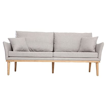 Bevis 3 Seater Sofa In Fabric Grey Colour