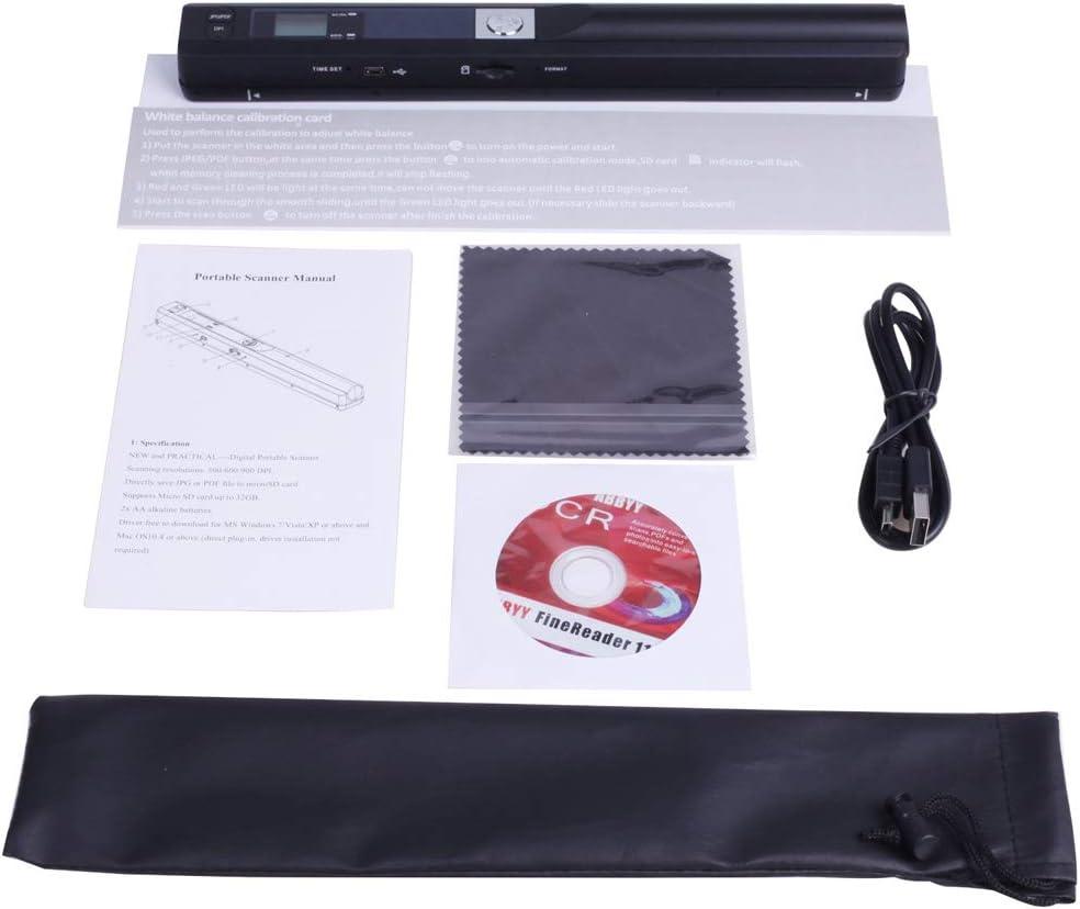 Zeaih Tragbarer Sofort-Scanner kabellos Dokumentenscanner f/ür Bild schwarz tragbar Dokumenten- und Bildscanner