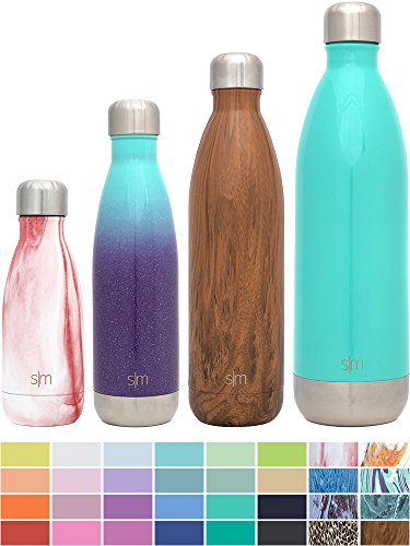Simple Modern 17oz Wave Water Bottle - Vacuum Insulated Double Wall 18/8 Stainless Steel Hydro Swell Flask - Fusion Collection - Tropical Seas