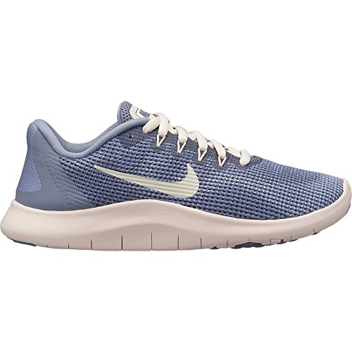 (Nike Girl's Flex RN 2018 Running Shoe Ashen Slate/Guava Ice/Diffused Blue Size 6 M US)
