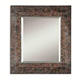 Cheap Uttermost Jackson Metal Mirror in Distressed Dark Rust Brown
