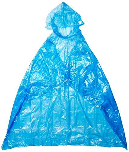 The shopping aisle Rain Poncho for Adults (4 Pack) | Emergency Disposable Rain Poncho | Assorted Vibrant Colors | 100% Waterproof | Individually Packaged | Great for Trips and Games