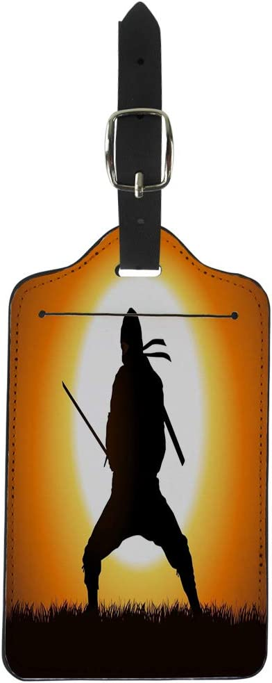 Amazon.com: Semtomn Luggage Tag Warrior Silhouette of Ninja ...