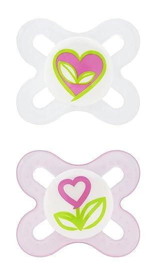 Amazon.com: MAM Start ortodoncia Chupete de silicona 2 Ea: Baby