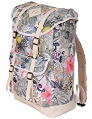 "Jetstream Classic Lightweight 17"" Laptop Travel Daypack Backpack (Graphic Floral)"