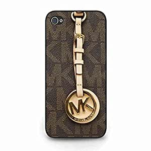 MK Key Image Logo Slim Luxury Phone Funda Cover For Iphone 5c Michael Kors Browm Back Design For Boys