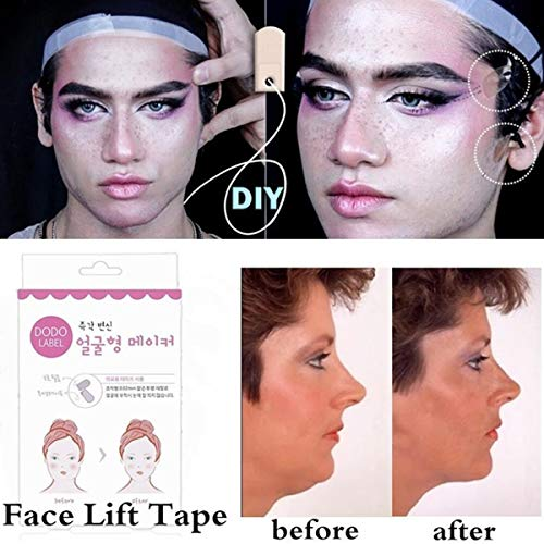 Face Lifting Patch Invisible Artifact Sticker Lift Chin Thin Face Sticker Adhesive Tape Make-up Face Lift Tools ()