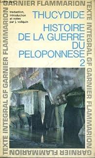 Histoire de la guerre du Péloponnèse, tome 1 par  Thucydide