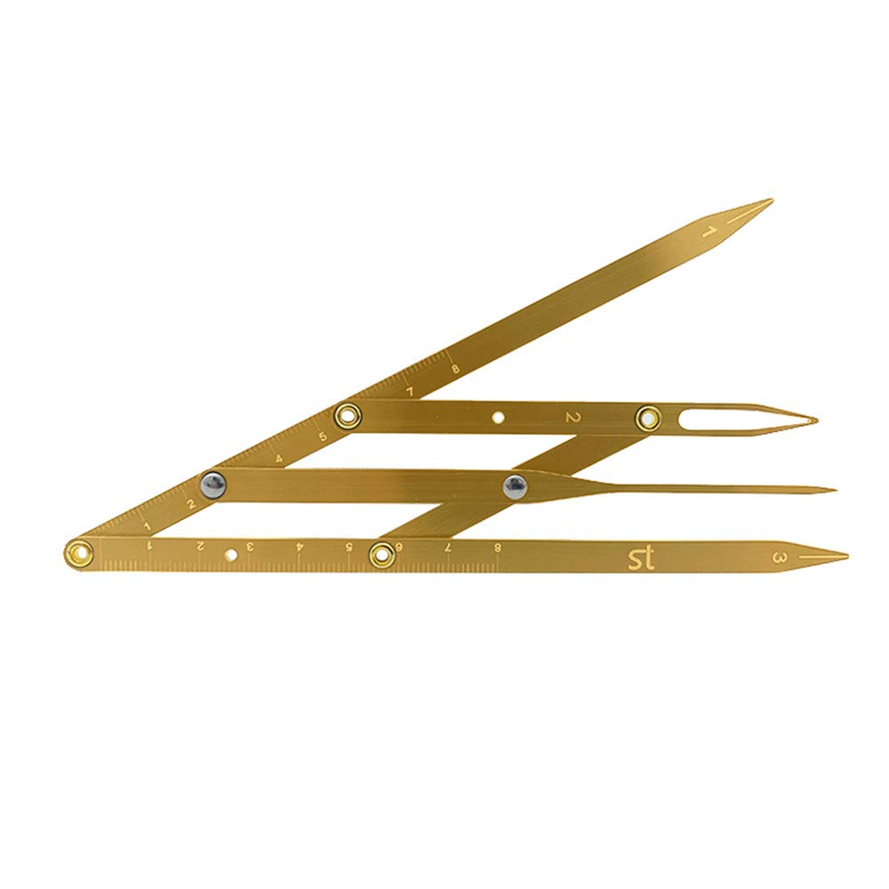 Amazon Com Permanent Makeup Eyebrow Ruler Golden Ratio Divider Caliper Microblading Stencil Shaping Tool Tattoo Accessories Supplies Gold Beauty