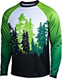 Green Trees, Ferry, Rainier - Men's Long Sleeve - Best Reviews Guide