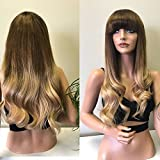 360 Wigs Human Full Lace Wig 360 Lace Wig Pre Plucked 150%Density Brazilian Human Hair Wigs for Black Women Ombre Color with Baby Hair (22'', 360 lace wig)