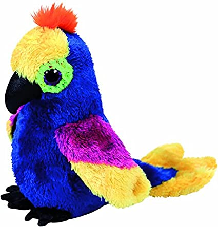 "Ty 6"" Wynnie the Hyacinth Macaw / Parrot Beanie Boos Plush Stuffed Animal MWMTs w"