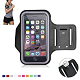 Tsmine iPhone 5 5S Sports Gym Armband - Universal Water Resistant Running Jogging Fitness MobilePhone Pouch Armband Case for Apple iPhone 5 5S, Size S, Black