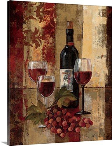 Silvia Vassileva Premium Thick-Wrap Canvas Wall Art Graffiti and Wine II
