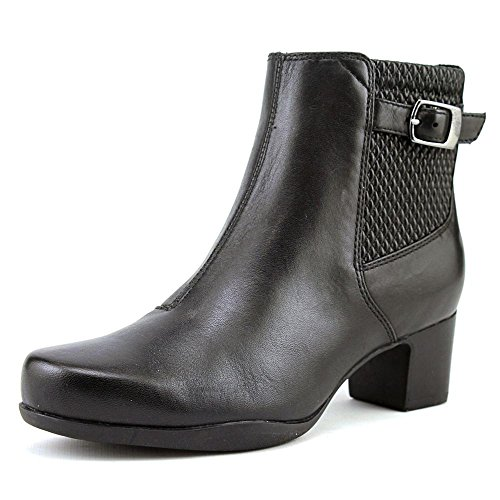 Clarks Women's Rosalyn Lara Boot, Black Leather, 8.5 M US (Clarks Womens Shoes Boot)