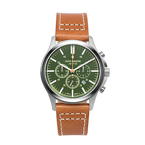 Green Dial Tan Leather Strap - 3