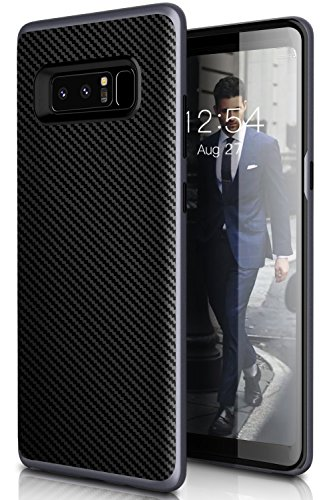 Galaxy Note 8 Case,Myriann Dual Layer Premium Bumper Style Ultra Slim Carbon Fiber Textured Scratch Resistant Shock Absorption Protective Case for Samsung Galaxy Note8 (Navy Blue) -