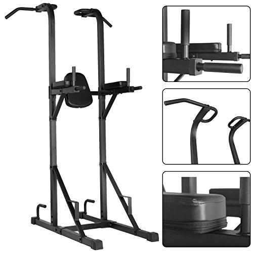 BLACKED-OUT-Multi-function-Power-Tower-with-Dip-Stand-Pull-up-Station-Captains-Chair-and-Push-up-Station