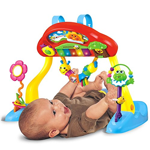 Baby Play Mat Deluxe Music Activity Gym and Crib Soother by TALANNA STON