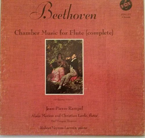 Beethoven Chamber Music For Flute (Complete) 3 Record Box Set insert included Jean-Pierre Rampal, Alain Marion and Christian Larde, Flutes Paul Hongne, Bassoon, Robert Veyron-Lacroix, Piano -  Vox Box