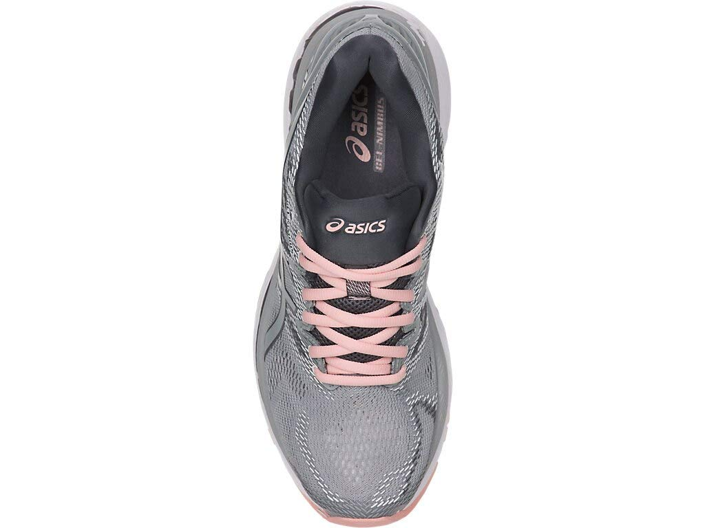 ASICS Women's Gel-Nimbus 20 Running Shoe, mid grey/mid grey/seashell pink, 5.5 Medium US by ASICS (Image #3)