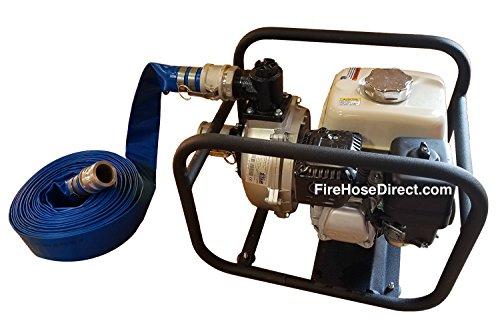 Blue PVC 1.5'' x 50' Camlock Lightweight Discharge Pump Hose
