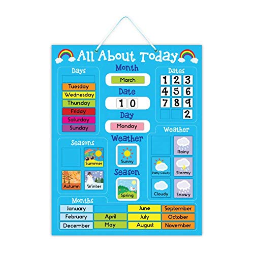 5K Education All About Today Weather & Calendar Magnetic Board - - Magnetic Calendar Learning