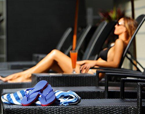 SOULS COMFORT MASSAGE THONGS - BYRON BAY BLUE - Wellness Badelatschen, Zehentrenner Größe 43