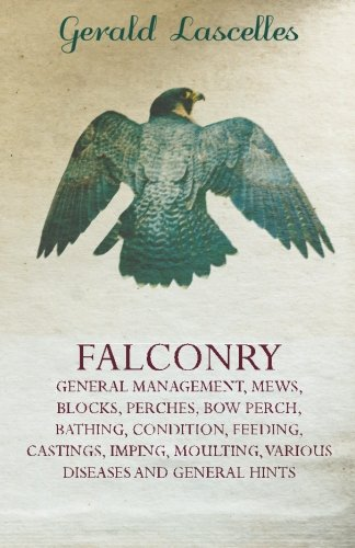 Falconry - General Management, Mews, Blocks, Perches, Bow Perch, Bathing, Condition, Feeding, Castings, Imping, Moulting, Various Diseases And General Hints