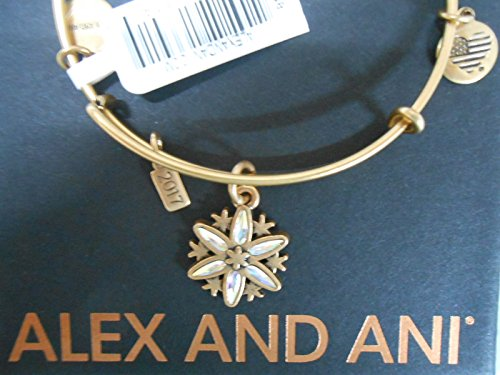 Alex and Ani Women's Black Friday Snowflake Bangle Rafaelian Gold One Size