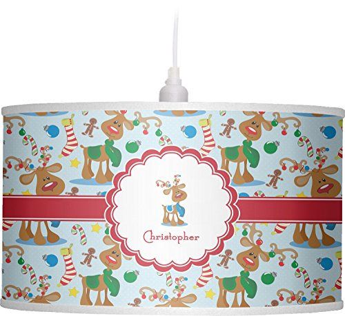 RNK Shops Reindeer Drum Pendant Lamp Polyester (Personalized) by RNK Shops