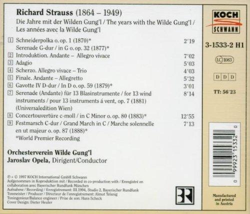 Unknown Strauss 1: Early Orchestral Works by Koch Schwann (Germ.)