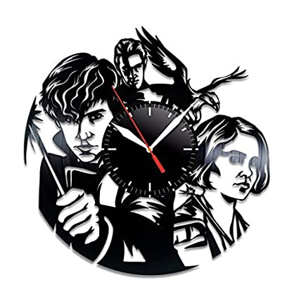 cf4373ab2b70c Fantastic Beasts and Where to Find Them Design Vinyl Record Wall Clock  Unique gifts for him