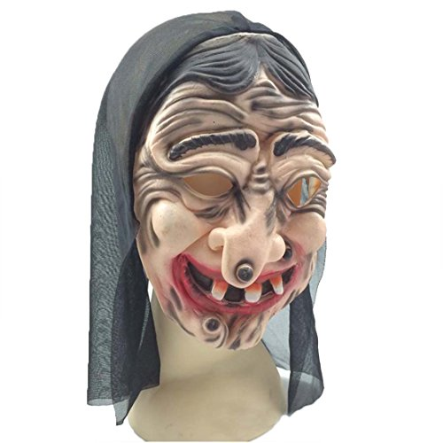 YYF Old Witch Face Masks for Halloween Masquerade