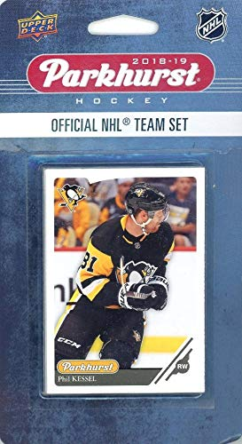 Pittsburgh Penquins 2018/19 Upper Deck Parkhurst NHL Hockey EXCLUSIVE Limited Edition Factory Sealed 10 Card Team Set including Sidney Crosby, Evgeni Malkin & all the Top Stars & RC's! WOWZZER!