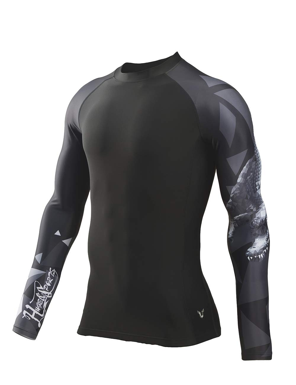 HUGE SPORTS Wildling Series UV Protection Quick Dry Compression Rash Guard(Alligator,2XL) by HUGE SPORTS