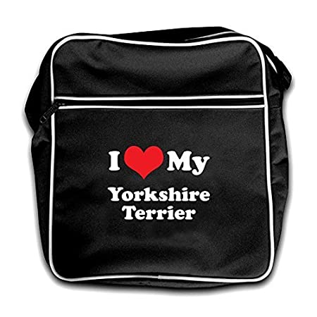 Dressdown I Love My Yorkshire Terrier – Retro Flight Bag Black 517mNX2MqmL