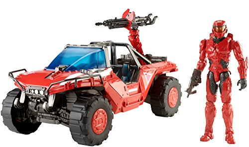 Halo 2 Warthog - Halo Wars 2 Team Red Warthog & Spartan Master Chief Mark IV Action Figure, 12
