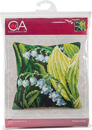 RTO CD5121 Collection D'Art Stamped Needlepoint Cushion Kit 40X40cm, Mountain Border ()