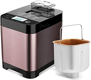Elitte Automatic Bread Maker Multifunctional Stainless Steel Bread Machine, Programmable, 18 Settings, 3 Crust Colors, Reserve& Keep Warm Set