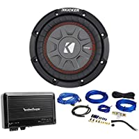 Kicker 43CWRT671 COMPRT67 6.75 300W DVC 1-Ohm Car Subwoofer+Amplifier+Amp Kit