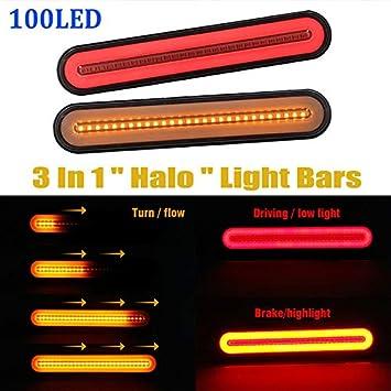 24 V luces de posici/ón de 12 V cami/ón universal MASO 4 luces laterales LED de posici/ón para camiones para remolque autob/ús cami/ón furgoneta