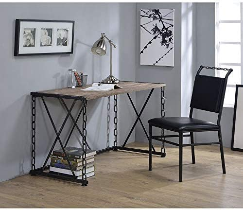 SSLine 48 Writing Computer Desk,Modern Simple Style Home Office Study Desk with Metal Chain Frame,Industrial PC Laptop Study Table Office Desk Workstation for Home Office Notebook Desk Type-2