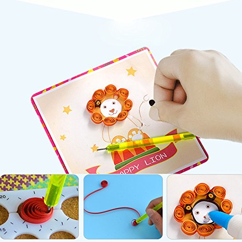 DIY 3D Flower Greeting Cards Hand Made Paper Painting Tool Children Paper Rolling Sets Paper Flower Home Decor Paper Art by Mr Teck