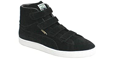 watch 569fc 83c9c Puma Suede Mid Velcro Black Mens Trainers 350948 05 D82 (4.5 ...