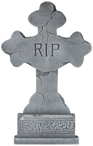 Decorative Tombstone Cross 24in Halloween Decoration-Assorted (Choices may vary) ()
