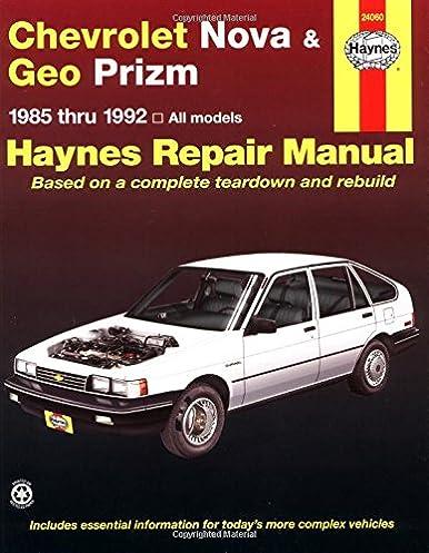 chevrolet nova geo prizm fwd 85 92 haynes repair manuals rh amazon com Geo Car Geo Storm
