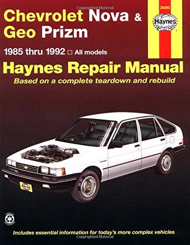 Haynes Chevy Nova, Geo Prism, 1985-1992 (Haynes Manuals)