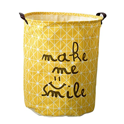 MuLuo Folding laundry basket couple storage barrel for toy clothes Sundries Yellow